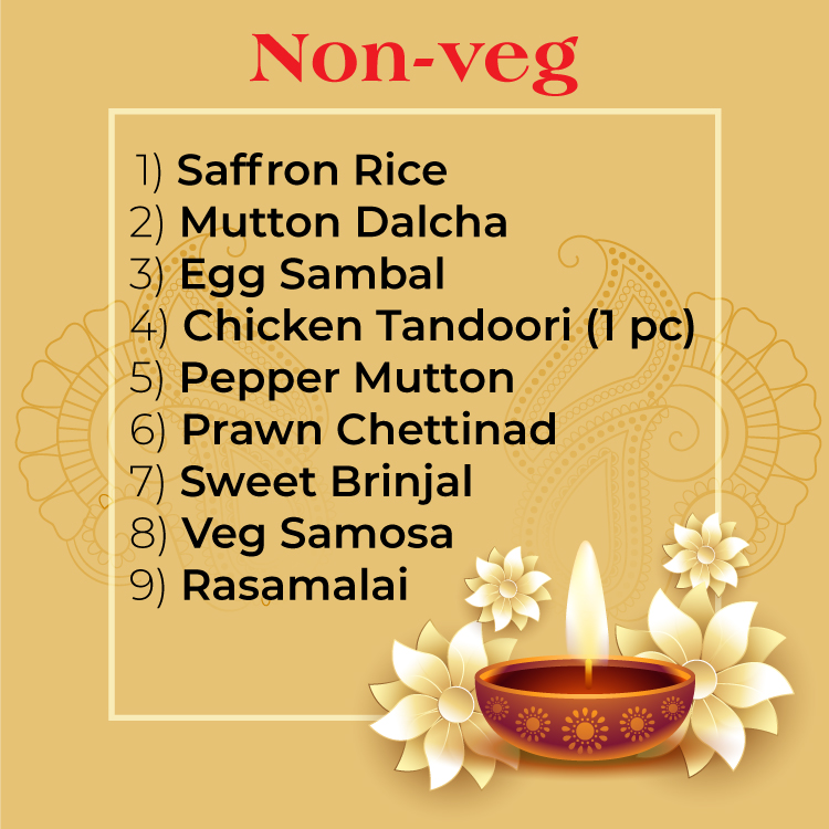 Deepavali Catering Menu in Singapore - Sakunthalas Restaurant Singapore